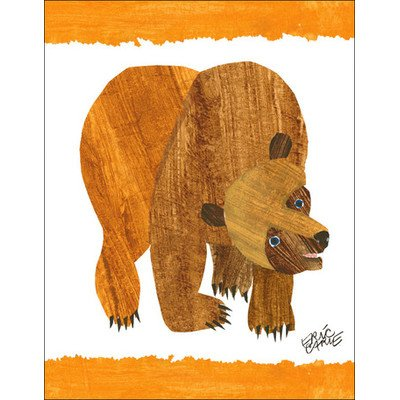 "Oopsy Daisy NI2546 Eric Carle's Brown Bear Cover Canvas Wall Art, 14"" by 18"""