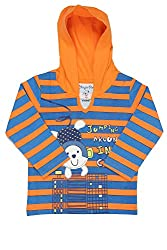 Chirpie Pie by Pantaloons Boy's Hooded T-Shirt (205000005609986, Orange, 9 - 12 Months)