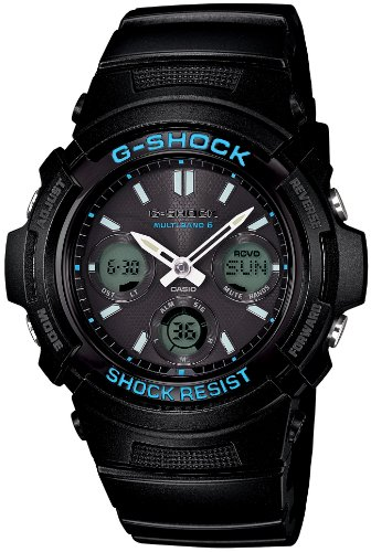 CASIO G-SHOCK BLACK X BLUE SERIES (AWG-M100BA-1AJF) 6 MULTIBANDS SOLAR (JAPANESE MODEL) 2014 MAY RELEASED