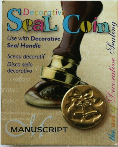 Manuscript Pen 727BEL Decorative Seal Coin, 0.75-Inch, Bell