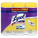 Lysol Dual Action Disinfecting Wipes, Citrus, 35 Wipes, Buy 2 Get 1 Free