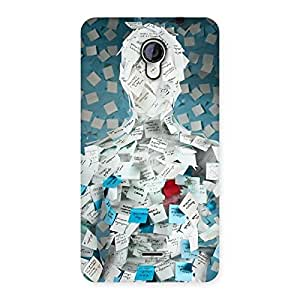 Delighted Office Paper Back Case Cover for Micromax Unite 2 A106