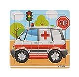 Ularma Lindo Aprendizaje y la educaci�n de los ni�os madera Jigsaw Puzzles juguetes (Ambulancia)