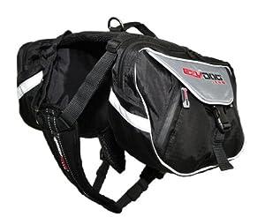 EzyDog Summit Dog Backpack, Large, Black/Charcoal