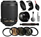 Nikon VR 55-200mm Lens 2166 + Beginner Accessories Bundle includes 5 Piece Filter Set + 2.2x Adapter for Nikon DF D7200 D7100 D7000 D5500 D5300 D5200 D5100 D5000 D3300 D3200 D3100 D3000 D300S D90