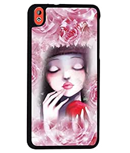 PrintVisa Metal Printed Girly Designer Back Case Cover for HTC Desire 816/ 816G Dual sim -D5096