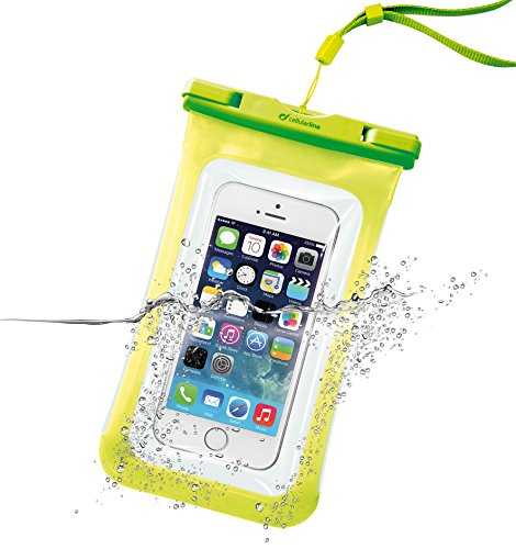 Cellularline iPhone6 防水ケース 海 IPX8 iPhone5S 5C イエロー NEW VOYAGERミニ財布付