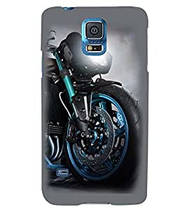 Printvisa Sporty Stylish Blue Bike Back Case Cover for Samsung Galaxy S5 G900i::Samsung Galaxy S5 i9600::Samsung Galaxy S5 G900F