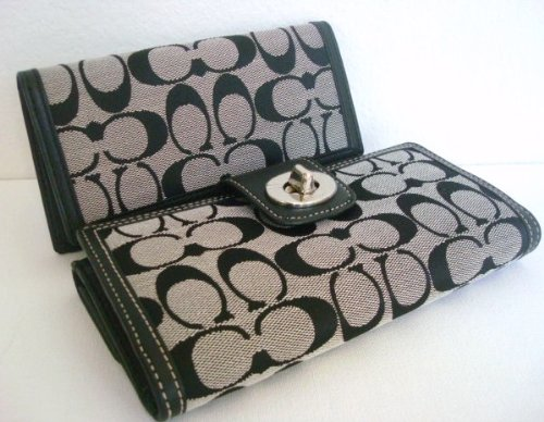 Where To Buy ItemBrand  Authentic Coach Turnlock Signature Checkbook ... fee8047f76a6a