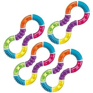 Munchkin Twisty Figure 8 Teether - 4 Pack from Munchkin