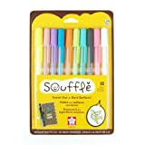 Sakura 58350 10-Piece Blister Card Souffle Assorted Color 3-Dimensional Opaque Ink Pen Set