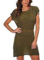 Anouska Vestido Punto Lisa (Verde)