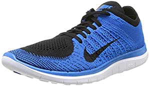 Nike Mens Free Flyknit 4.0 - Multicolour (Black/Black Photo Blue White), 11 UK (46 EU)