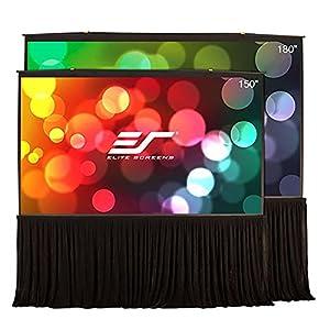Elite Screens QuickStand 5-Second Series, Large Venue Portable Projector Screen, 150-inch Diag. 16:9, QS150HD