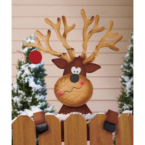 Reindeer Holiday Fence Topper