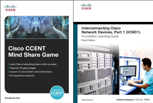 Cisco CCENT Mind Share Game and Interconnecting Cisco Network Devices, Part 1 (ICND1) Bundle (4th Edition) (Practical St