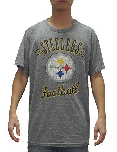 Nfl Pittsburgh Steelers Mens Crew-Neck Short Sleeve T Shirt (Vintage Look) L Grey