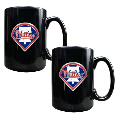 Philadelphia Black Ceramic Mug Set