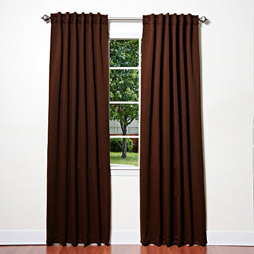 Solid Thermal Insulated Blackout Curtains Two Panels Chocolate 52 X 84 Curtain Store