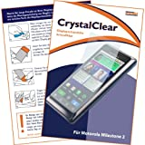 "mumbi Displayschutzfolie Motorola Milestone 2 Displayschutz ""CrystalClear"" unsichtbar"