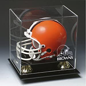 Cleveland Browns Nfl Full Size Football Helmet Display Case by Caseworks