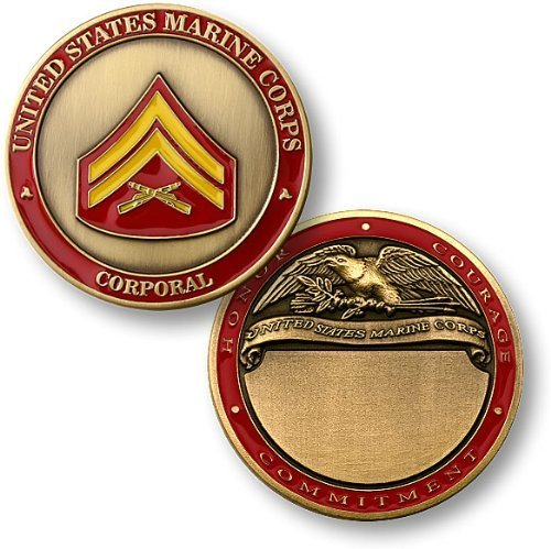 U.S. Marines Corporal Engravable Challenge Coin