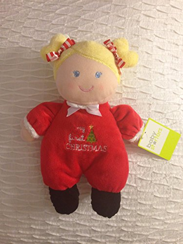 "Baby Starters 9"" My First Christmas Plush Doll Rattle"