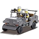 Kazi Building Block Century Military Jeep Luftwaffe #82007 199pcs Compatible with Lego Sluban