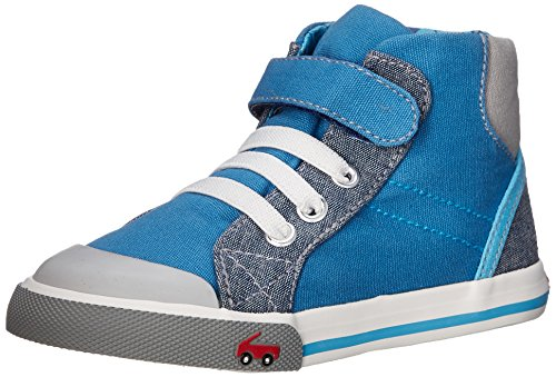 See Kai Run Dane Hightop Sneaker (Toddler), Blue, 6 M US Toddler