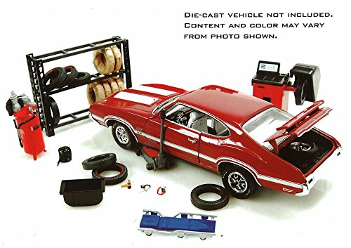 Hobby Gear Repair Tire Shop Phoenix 18422 1 24 Diecast Car Diorama Accessory Vehicles Parts