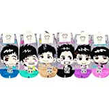 2PM Kpop Socks 6 Pairs Featuring Taecyeon, Nickhun, Wooyoung, Chansung, Junho & Junsu (Gray Version) ~ PK Socks