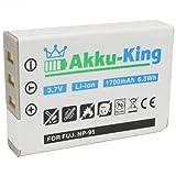 Akku-King Battery compatible with Fuji NP-95 / Ricoh DB-90 - Li-Ion - 1700mAh