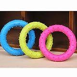 Gummi Haustier Katzen runde Kreis Welpen Spielen Funny Spielzeug kaut zuf?llige Farbe Tranining Non Toxic Hund