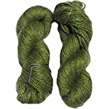 Vardhman Acrylic And Nylon Knitting Wool, Pack Of 2 (Green)