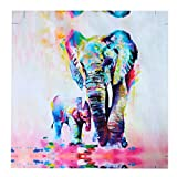 MOHOO 絵画 油絵 キャンバス プリント フレームなし 芸術 モダン 現代 インテリア 壁飾り 象 50x50CM
