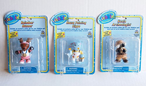 [Webkinz Custom Bundle House Painting Hippo, Koala Archeologist, Reindeer Runner Series 2] (Usa Flag Dress Teen Costumes)