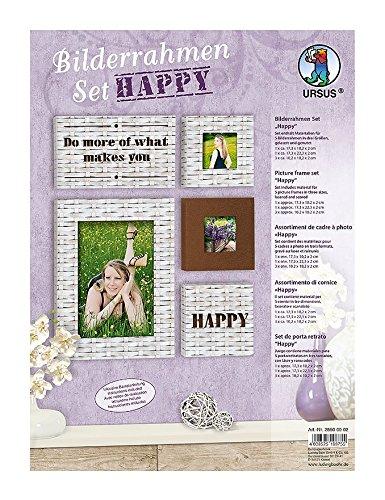 ursus 28500002 bilderrahmen set happy f r 5 in drei verschiedenen gr en. Black Bedroom Furniture Sets. Home Design Ideas