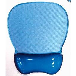 Aidata CGL003B Crystal Gel Mouse Pad Wrist Rest - Blue