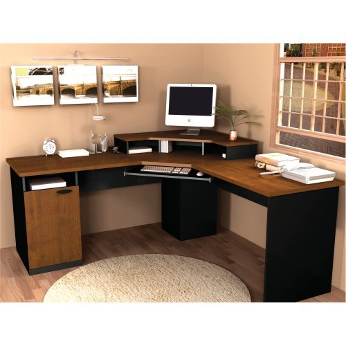 Bestar Hampton Corner Work Station, Tuscany Brown
