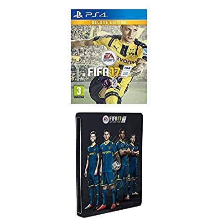 FIFA 17 - Deluxe Steelbook Edition (Exclusive to Amazon.co.uk) (PS4)