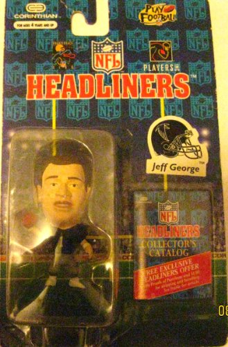 JEFF GEORGE / ATLANTA FALCONS * 3 INCH * 1996 NFL Headliners Football Collector Figure