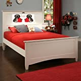 LightHeaded Beds Canterbury Full Bed - White (under bed open storage sold separately)