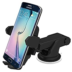 iOttie HLCRIO132 Easy One Touch Car Mount Charger for Qi Enabled Devices (Black)