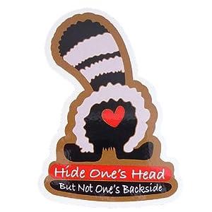 コトワザステッカー《Hide One's Head But Not One's Backside/頭隠して尻隠さず》防水加工☆STICKER通販☆