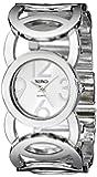 XOXO Women's Dial Tone Open Link Bracelet Watch Silver XO5210
