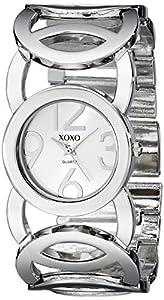 XOXO Women's XO5210 Silver Dial Silver-tone Open Link Bracelet Watch