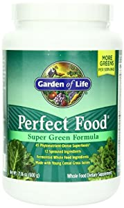 Garden of Life Perfect Food Super Green Formula, 600- Grams (60-Servings)