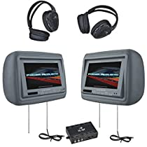 POWER ACOUSTIK HD-88GRDK 8.8HEADREST MONITORS+HEADSETS