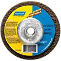 "Norton Bear-Tex Rapid Finish Depressed Center Abrasive Multi-Purpose Wheel, Type 27, Fiber Backing, 7/8"" Arbor, Silicon Carbide, 4-1/2"" Diameter, Grit Extra Coarse (Pack of 10)"