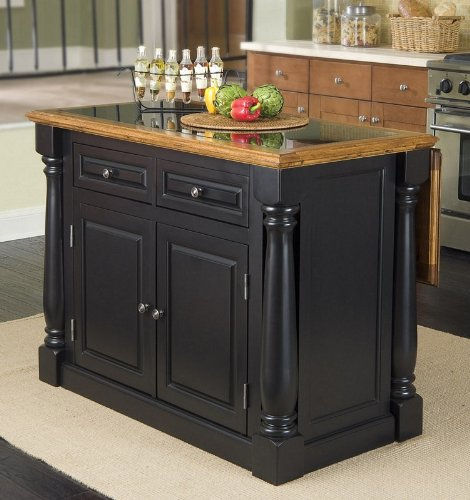 Cheap Kitchen Island with Granite Top in Two Tone Finish (VF_HY-5009-94)